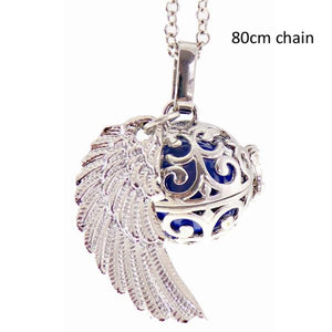 Angel Caller curl locket with wings rhodium