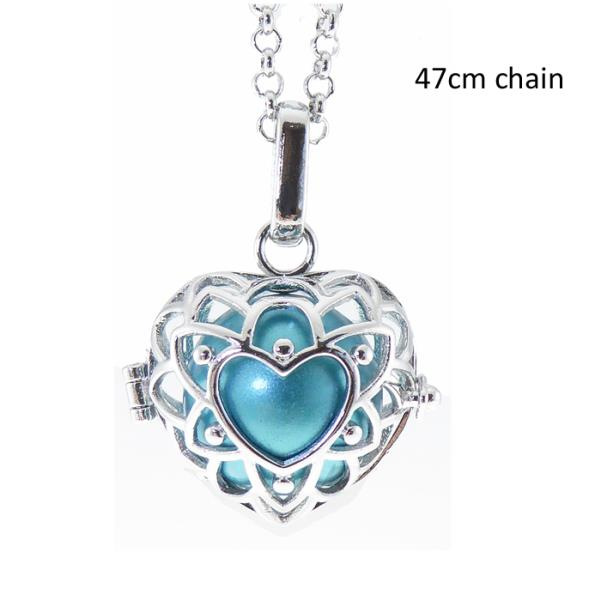 Angel Caller lacy heart rhodium