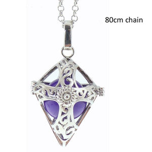 Angel Caller cross rhodium