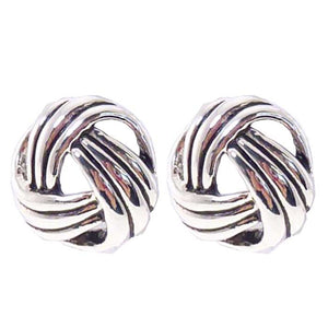 Antique silver love knot earrings