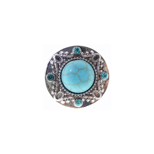 Turquoise crystal snap