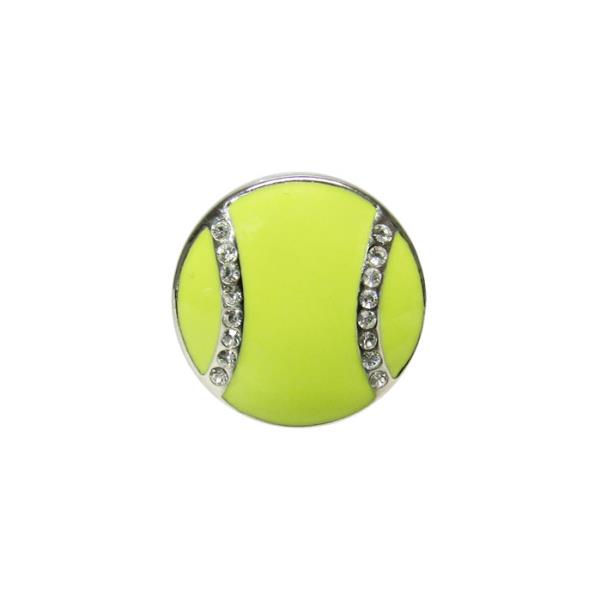 Diamante tennis ball snap