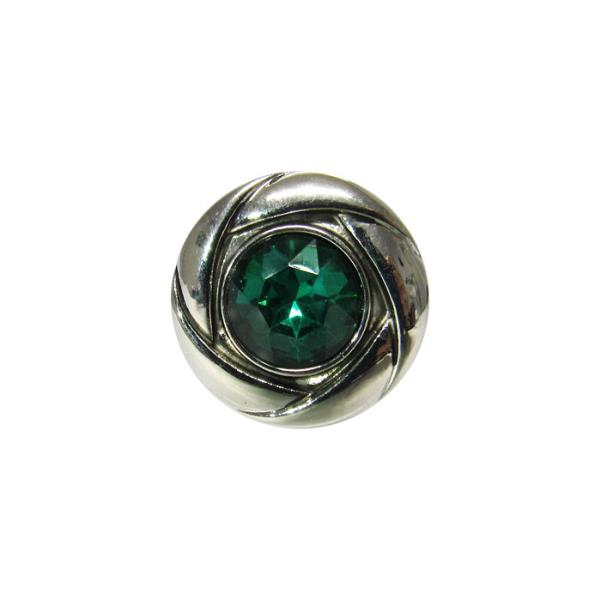 Green crystal charm snap