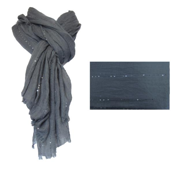 Charcoal with sequins scarf