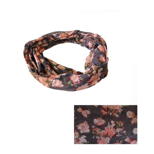 Peach flower snood
