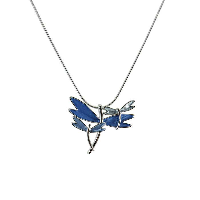 Dragonfly in blue necklace