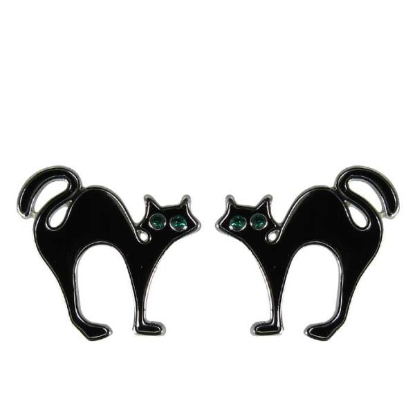 Sleek cat earrings
