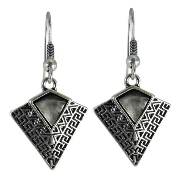 Art deco black shell earrings