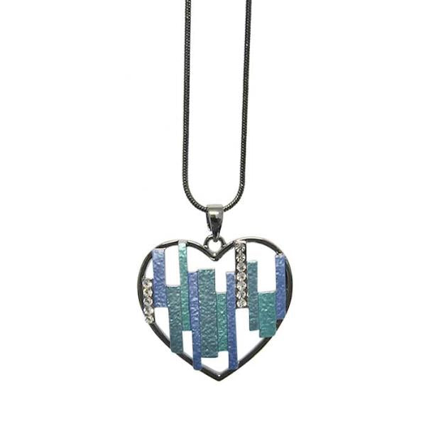 Jax diamante teal necklace