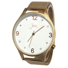 Load image into Gallery viewer, Jax diamante slim watch rose gold