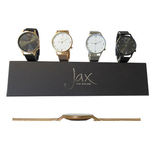 Jax diamante slim watch rose gold