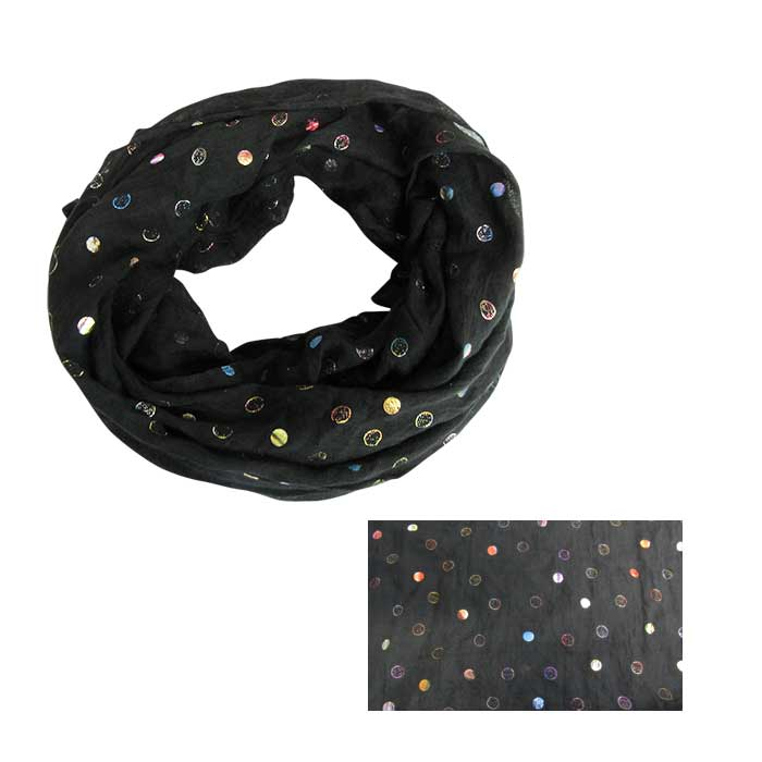 Black snood with planets