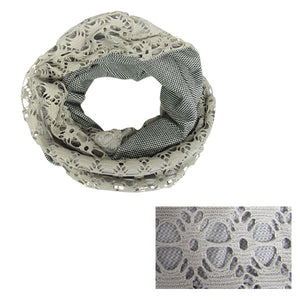 Silver grey lace snood