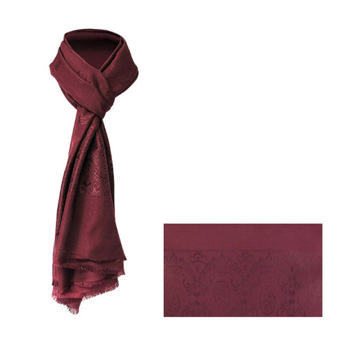 Paisley red wine scarf