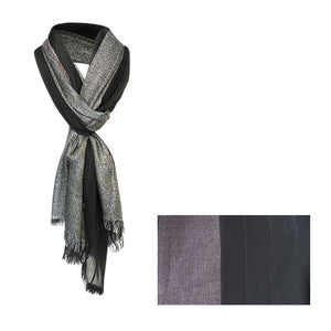 Black and silver shine scarf