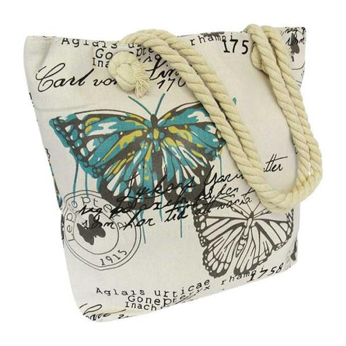 Rope tote bag French papillon