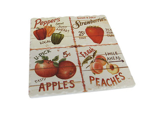 Produce trivet tile strawberry