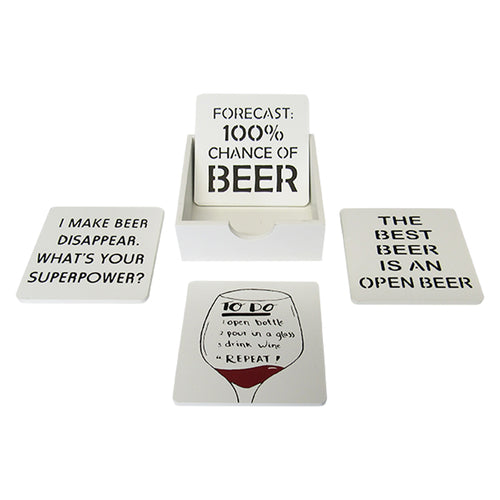Beer and wine coasters Set of 4