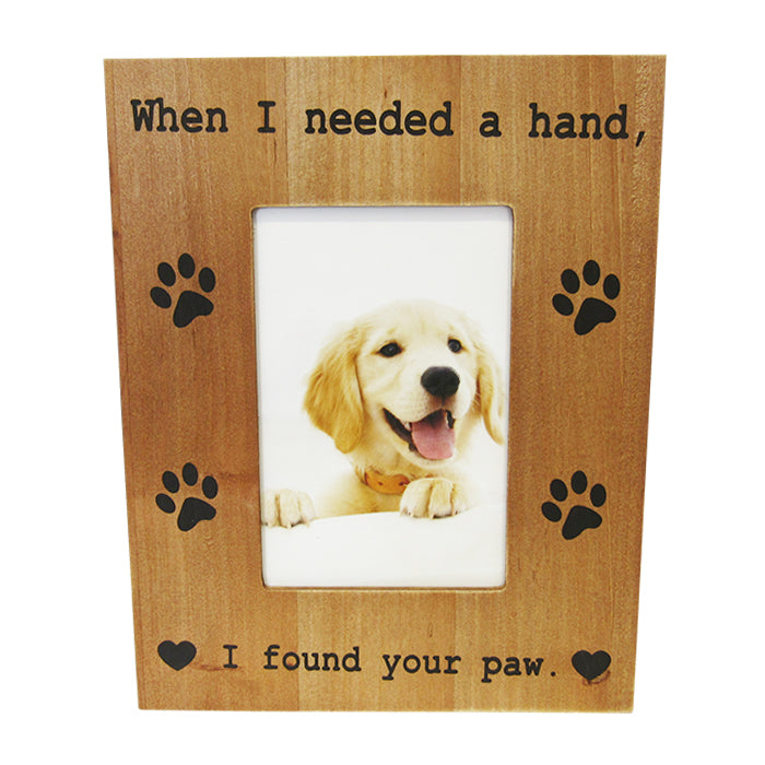 Dog love found paw photo frame