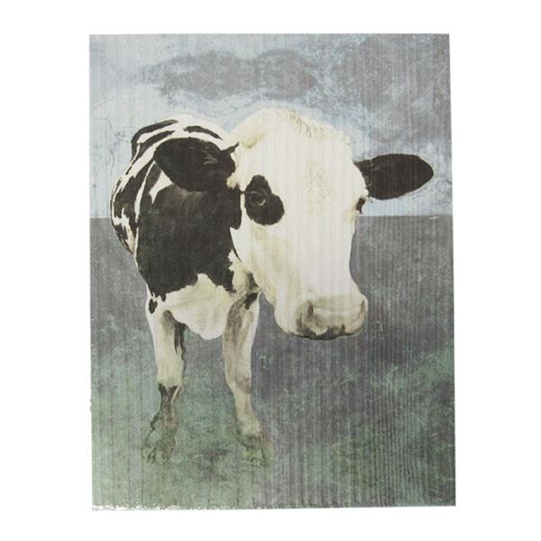 Textured art freisian cow