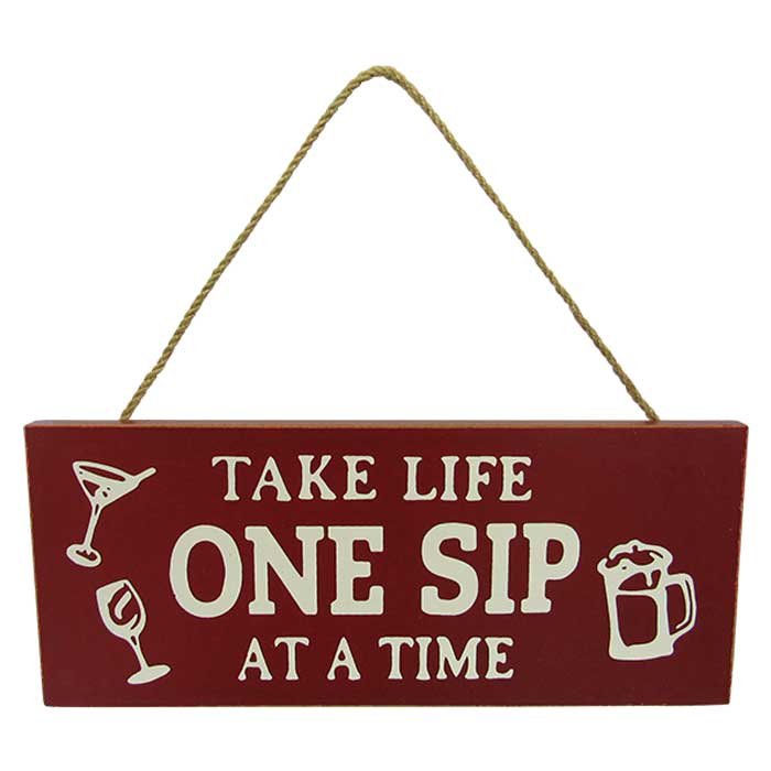 Wine hanger Sip sign