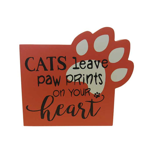 Pet shelf sign cat heart