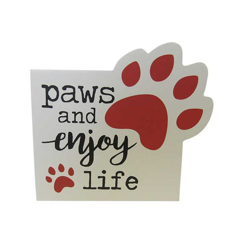 Pet shelf sign paws