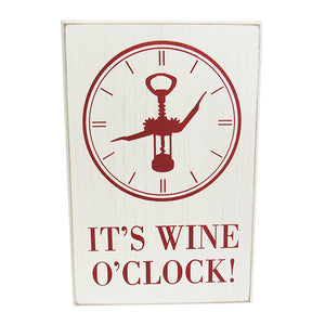 Wine life O'Clock sign