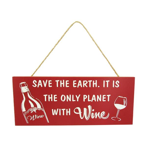 Red wine hanger earth