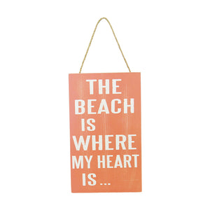 Beach life hanger heart