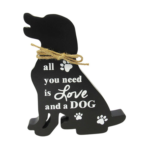 Pet shelf sign Love Dog