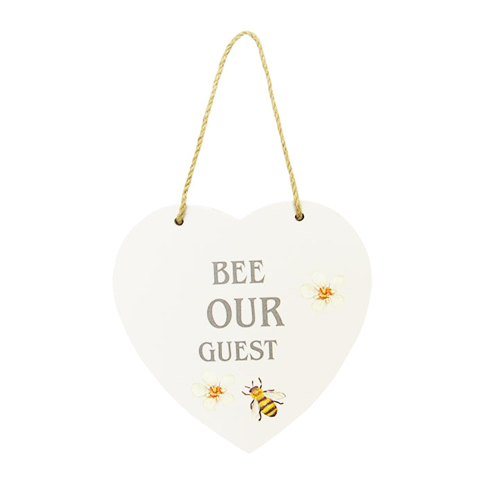 Bee heart hanger Bee Guest