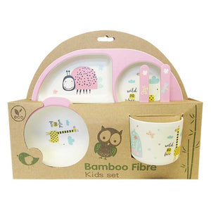 "Bamboo plate set for children ""ladybug"""