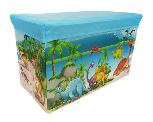 Toy box dinosaur blue