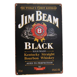 "Art tin sign ""Beam Black"""