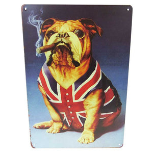 Art tin British bulldog