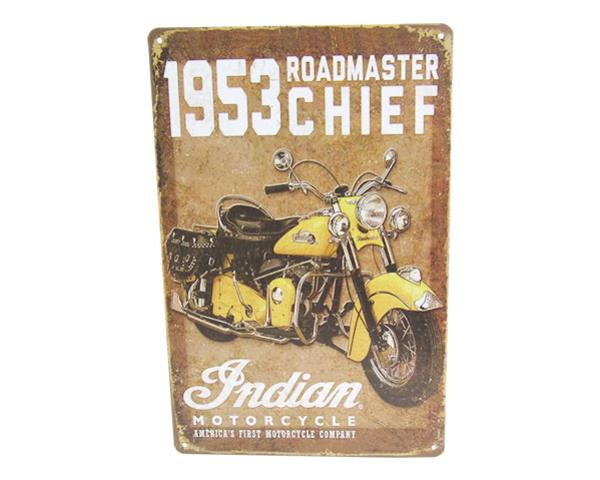 Art tin sign Indian Chief roadmaster