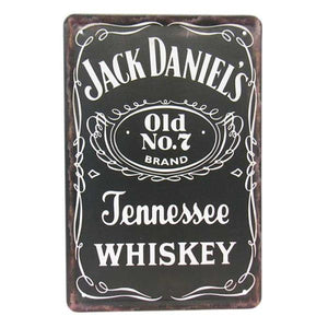 "Art tin sign ""JD"""