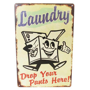 Art tin laundry pants