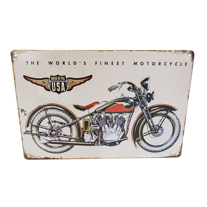 Art tin American bike
