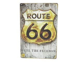 Art tin Route 66 freedom
