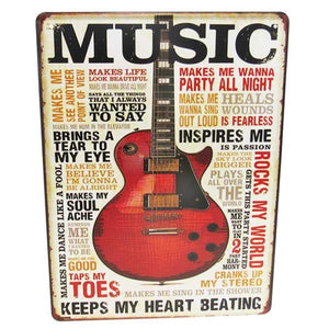"Art tin sign ""Music Love"""