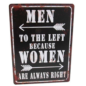 "Art tin sign ""Women Right"""