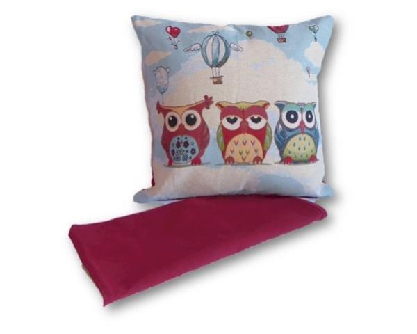 Owls and balloons cushion cover