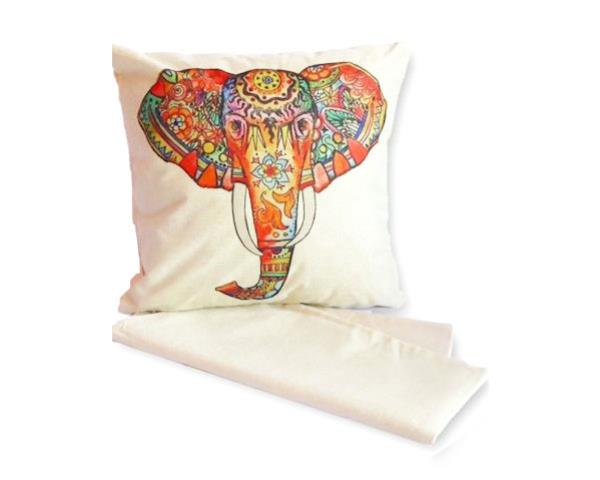 Printed elephant cushion cover