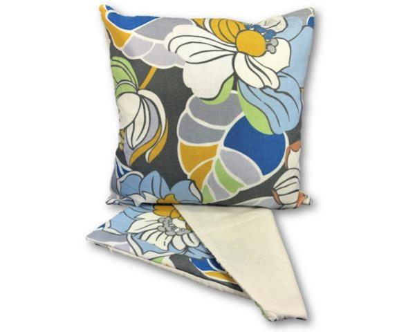 Flower print mauve cushion cover