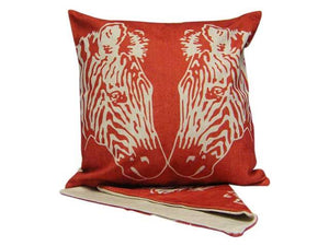 Red zebra cushion cover