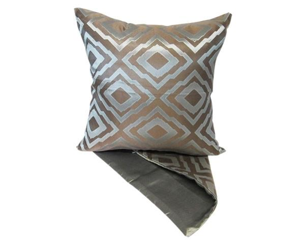 Diamond mosaic blue cushion cover