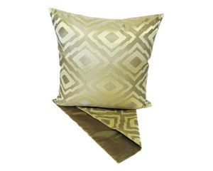 Diamond mosaic gold cushion cover