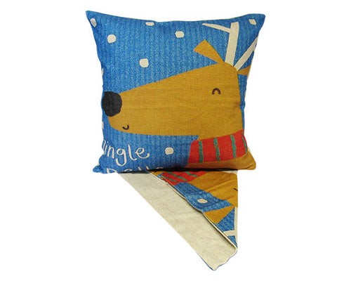 Christmas reindeer cushion cover